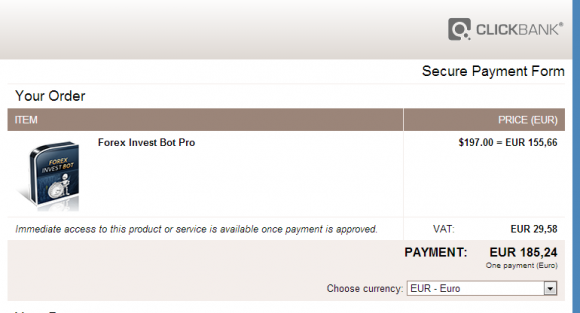 185 Euro für den FIB empfinde ich als ok.