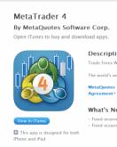Der Metatrader 4 ist nun für das IPAD und IPHONE als App verfügbar.