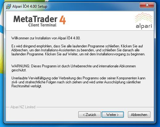 Metatrader 4 Download und Installationsanleitung - Bild 2.