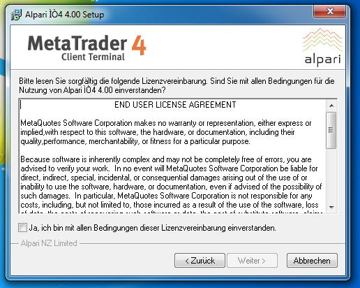 Metatrader 4 Download und Installationsanleitung - Bild 3.