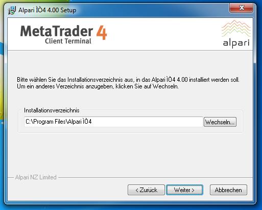 Metatrader 4 Download und Installationsanleitung - Bild 4.