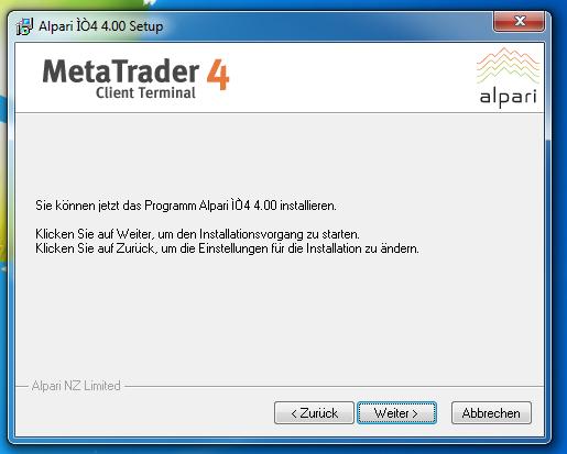Metatrader 4 Download und Installationsanleitung - Bild 6.