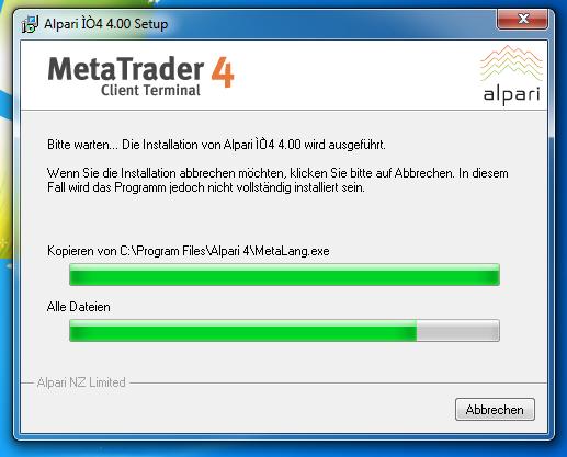 Metatrader 4 Download und Installationsanleitung - Bild 7.