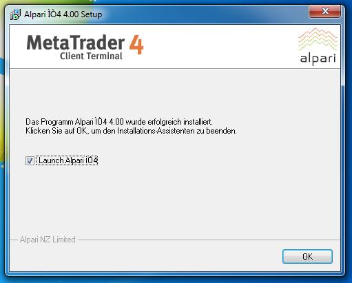 Metatrader 4 Download und Installationsanleitung - Bild 8.