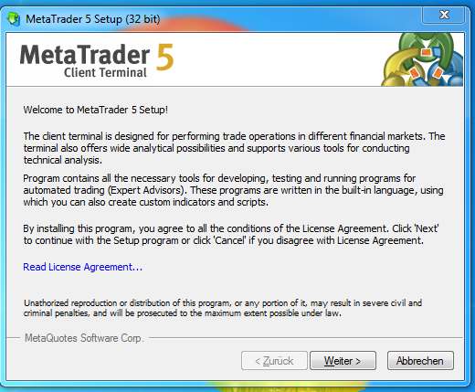 Metatrader 5 Download und Installationsanleitung - Bild 2.