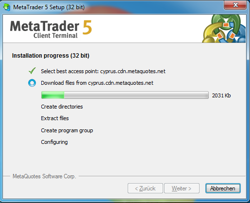 Metatrader 5 Download und Installationsanleitung - Bild 4.