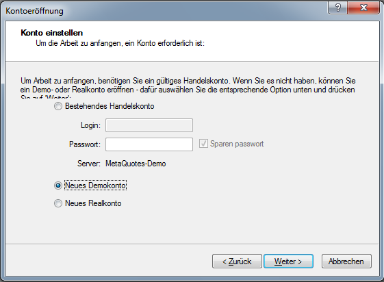 Metatrader 5 Download und Installationsanleitung - Bild 7.