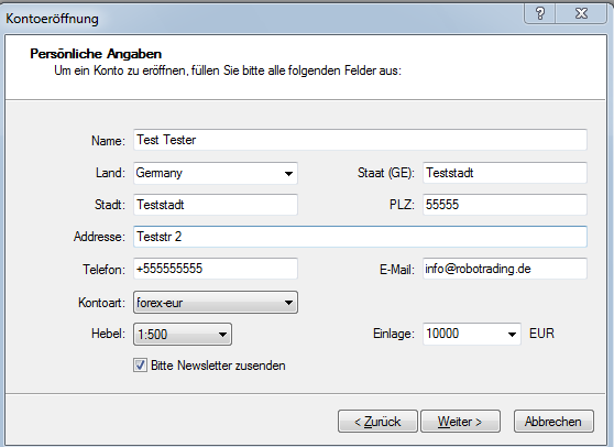 Metatrader 5 Download und Installationsanleitung - Bild 8.
