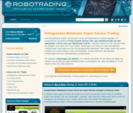 Neue robotrading,de Webseite.