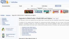 Viele Broker haben das Update auf Build 600 bereits vollzogen.